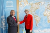 Ambassador B. K. Athauda presents credentials to Director General of UNESCO