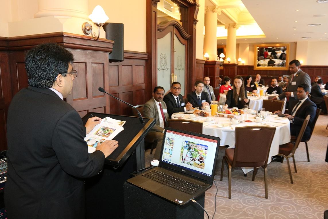 Mr. Sampath Samarawickrema, Director Marketing, Coconut Development Authority making his presentation