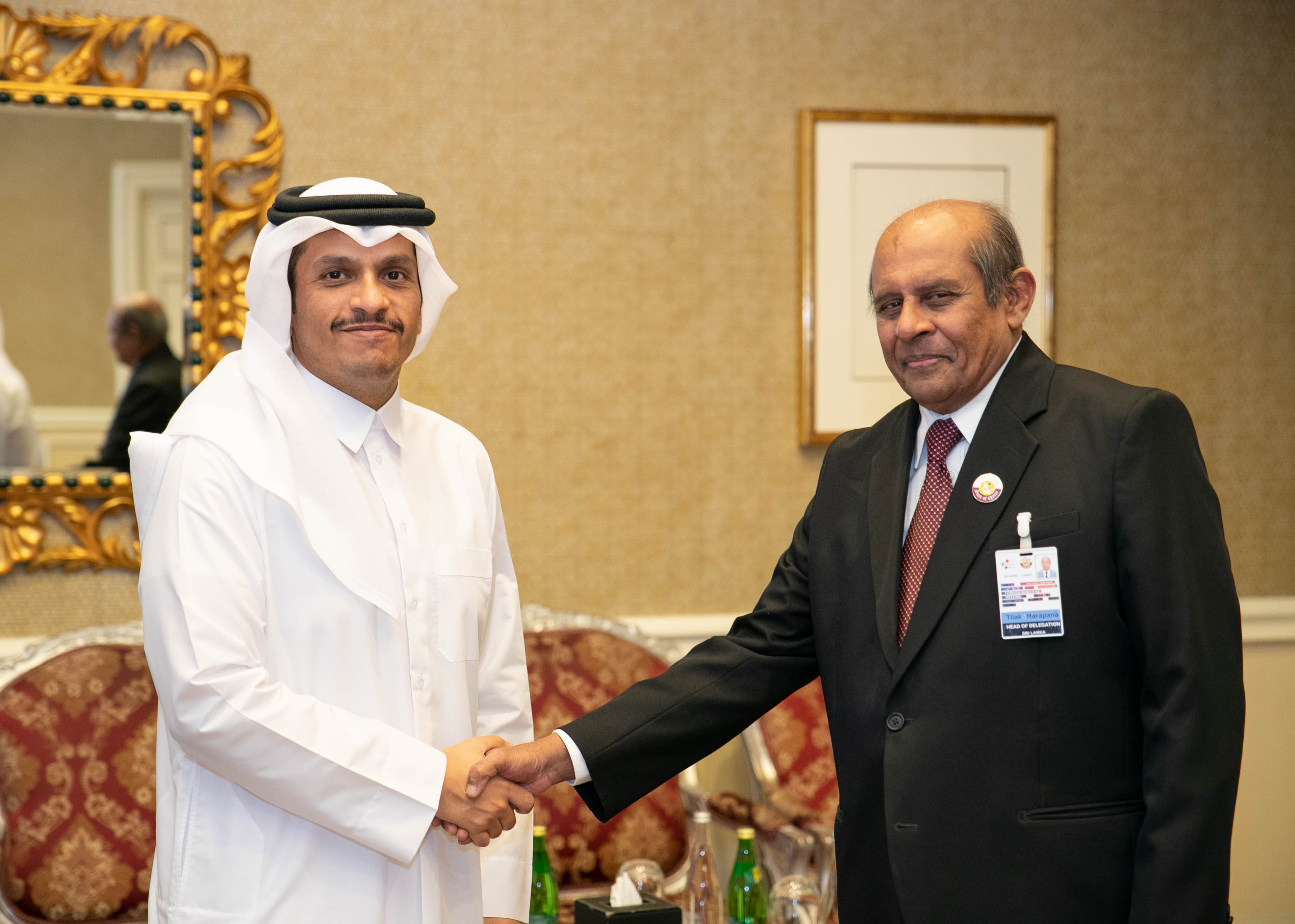 1. Bilateral Meeting with H.E. Sheikh Mohammed bin Abdulrahman bin Jassim Al Thani the Deputy Prime Minister and Minister of Foreign Affairs