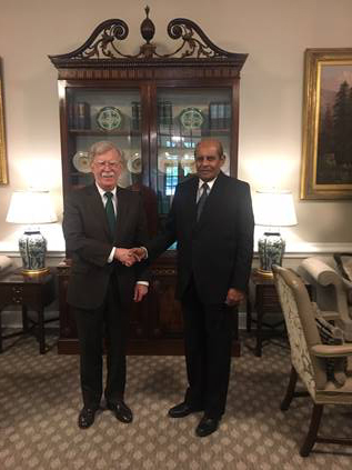 Hon. MFA with U.S. National Security Advisor John Bolton