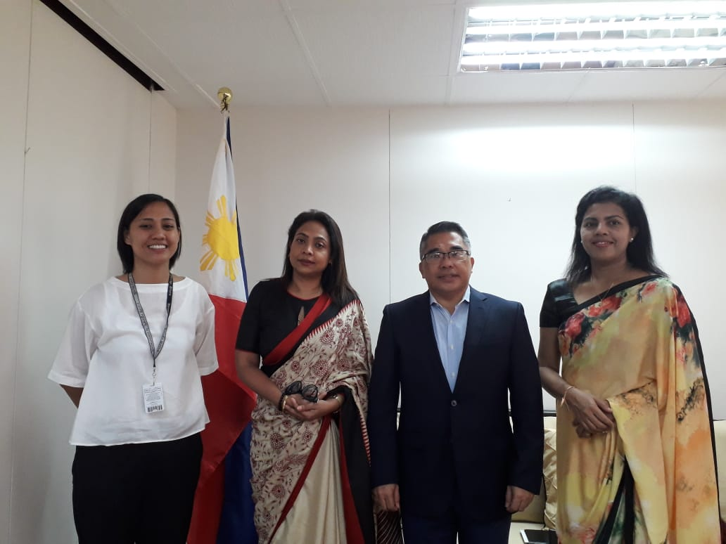 Sri Lankan Ambassador Designate To The Philippines Pays A Courtesy Call On Philippine Foreign Affairs Assistant Secretary Foreign Ministry Sri Lanka