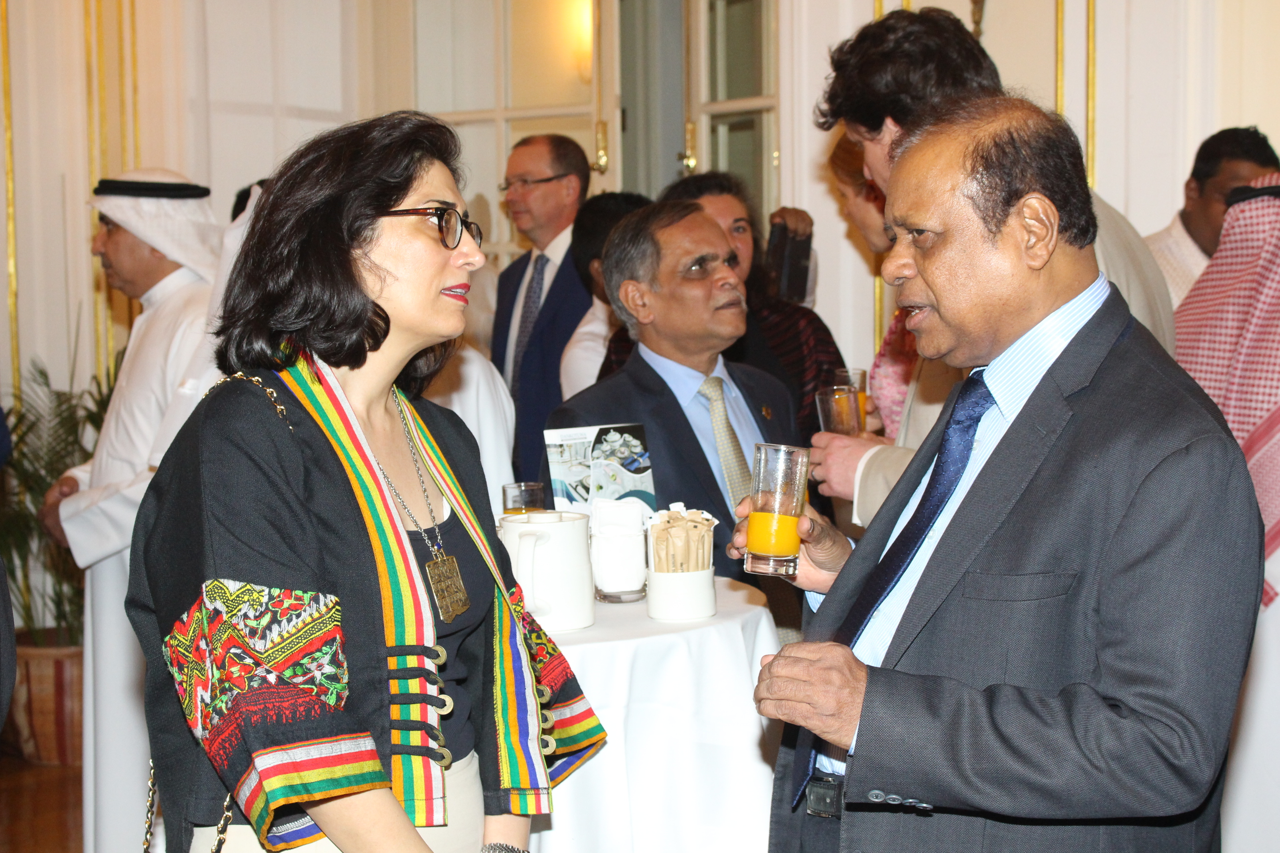 Hon. State Minister with envoys