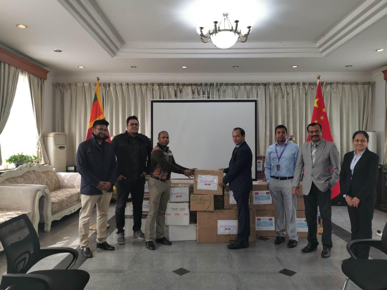 Donations from Sri Lankan community